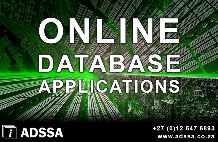 Online Database Applications   Our online database applicationsincludes maintenance systems, stock – and asset management systems, advertising and banner placement, client and ordering systems etc. Understanding that the needs of each client differs, custom programming caters for each client as an individual. The pr...  http://adssa.co.za/online-database-applications/