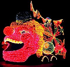 Vintage Disneyland Main Street Electrical Parade - Photo of a float from the Pinocchio unit
