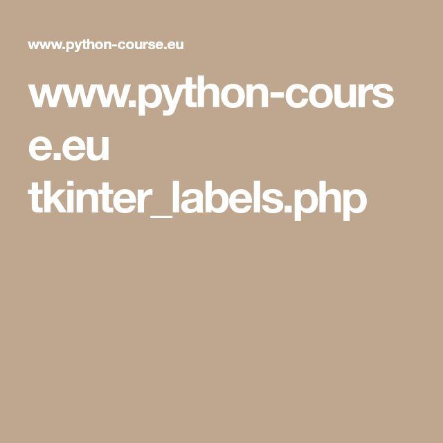 www.python-course.eu tkinter_labels.php