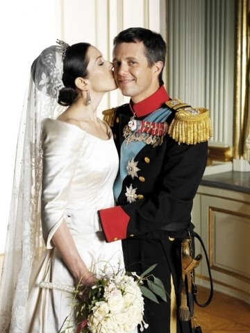 Crown Princess Mary & Crown Prince Frederik of Denmark on their Wedding day