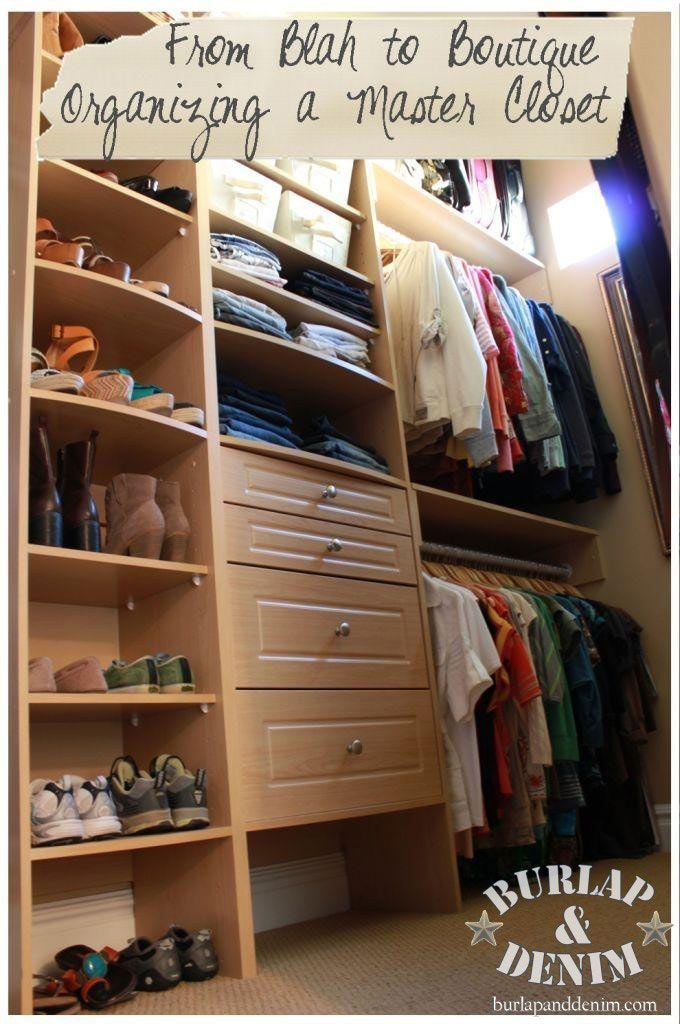 How to organize a walk in closet organizing a master for Organized walk in closet