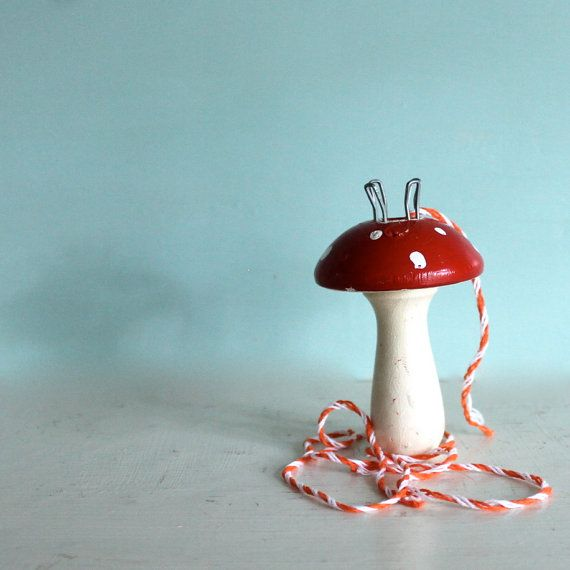 Vintage Knitting Mushroom or I  cord maker red by opendoorstudio, $12.00