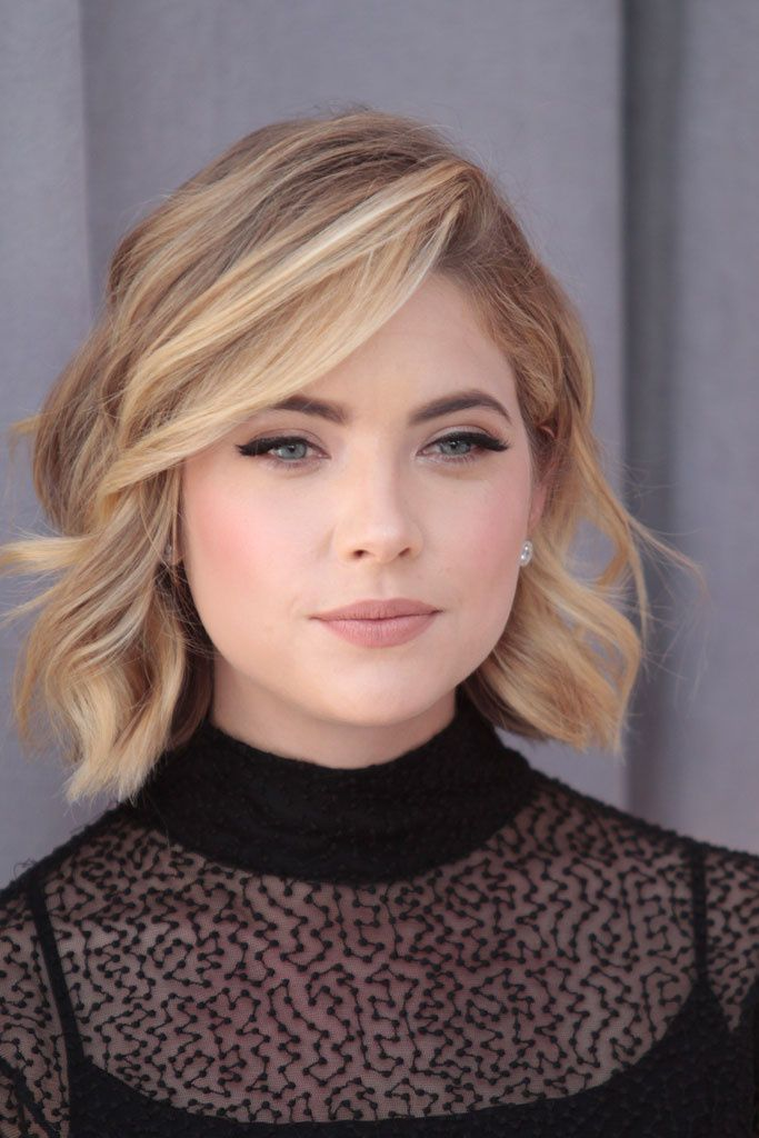 Ashley Benson - the angle of this photo makes it easier to see her hair cut!