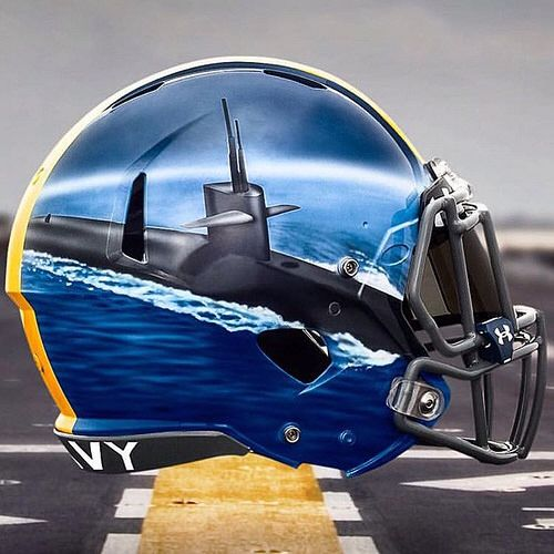Naval Academy ~ Hand Painted Alternate Helmets