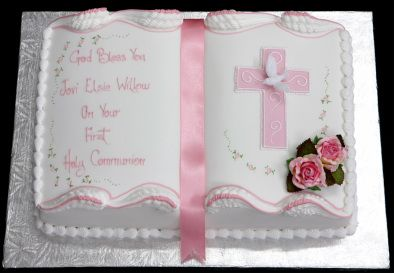 angel on communion cake | Cakes-For-you.co.uk