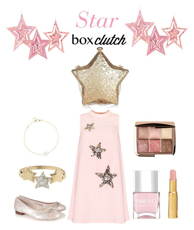 """Star light star bright.... Featured : Star box clutch"" by im-karla-with-a-k on Polyvore featuring Hourglass Cosmetics, Nails Inc., Too Faced Cosmetics, Sam Edelman, Cultural Intrigue, Talia Naomi, women's clothing, women's fashion, women and female"