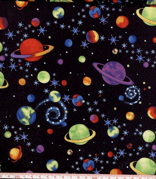 Outer space fabric kids pinterest for Space fabric