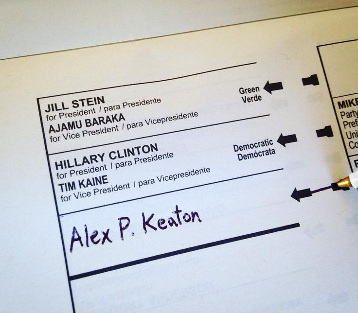 The only logical choice in this election (FYI: This was a sample ballot! I didn't actually vote for a fictional character!)