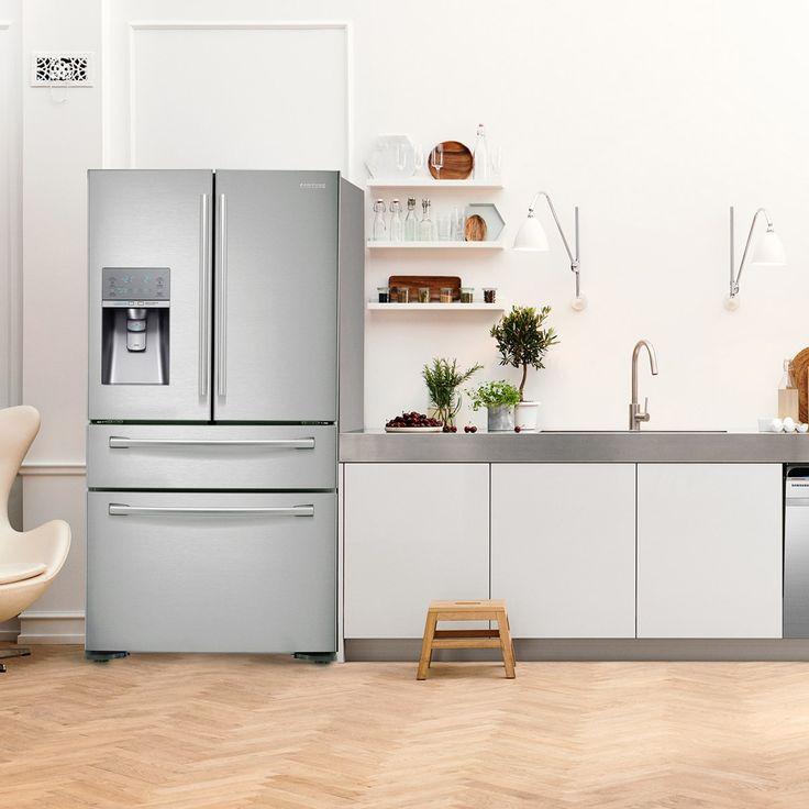 French Door -jääkaappipakastin tarjoaa erinomaisia säilytysmahdollisuuksia!
