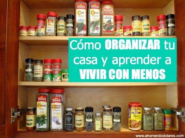 Como organizar la casa limpieza y trucos hogar pinterest - Organizar limpieza casa ...