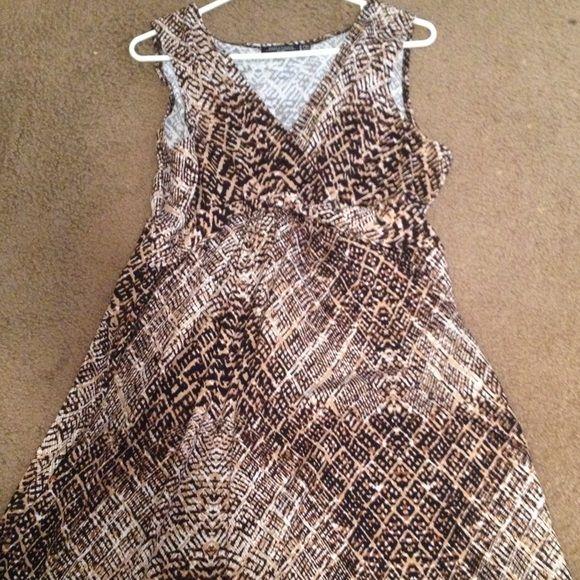 Animal print maxi dress Floor length maxi dress petite size Notations Dresses Maxi