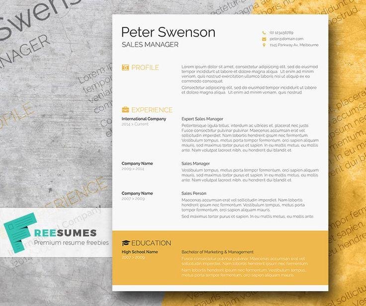 8 best Resume Formats images on Pinterest Resume cover letters