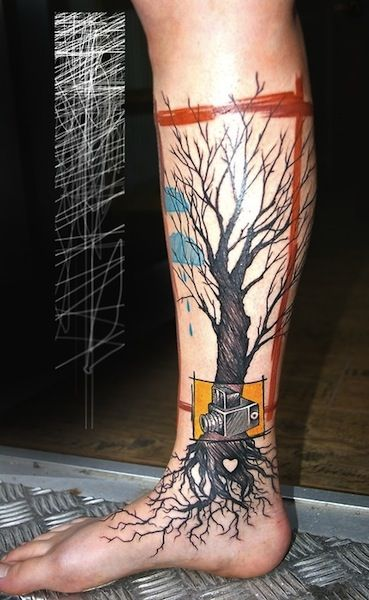 rain tree tattoos egodesigns