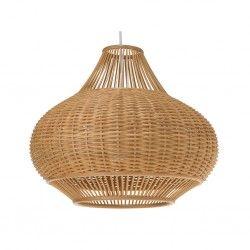 Wicker Pear-Shaped Pendant Lamp