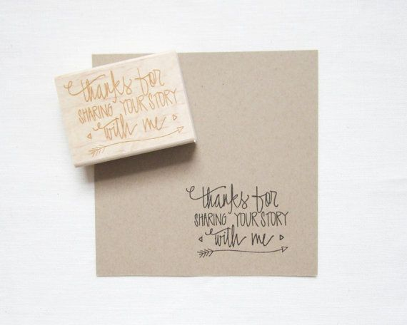 Photographers Stamp - Thanks for sharing your story with me - Photography Packaging - photography stamp