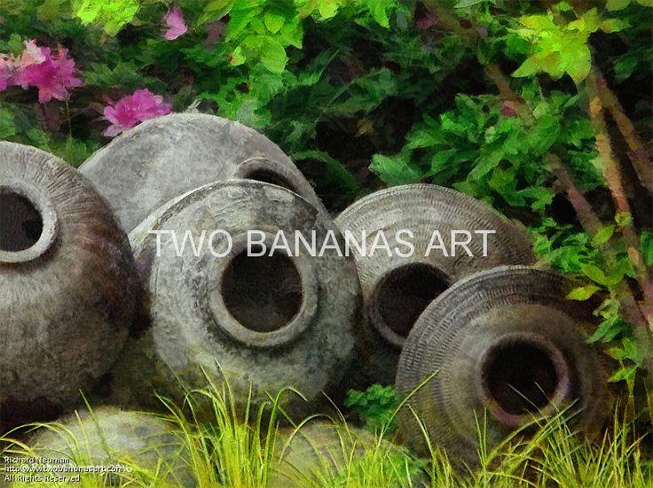 Asian Garden Art Part - 33: 266 Stack Of Garden Pottery. Asian GardenDigital MediaGarden Art