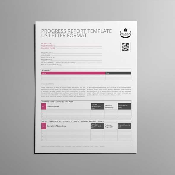 Progress Report Template US Letter CMYK \ Print Ready Clean - progress report template for students