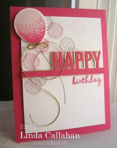 SU! Balloon Celebration and Celebrate Today (sentiment) stamp sets, Celebrate die (MFT) - Linda Callahan