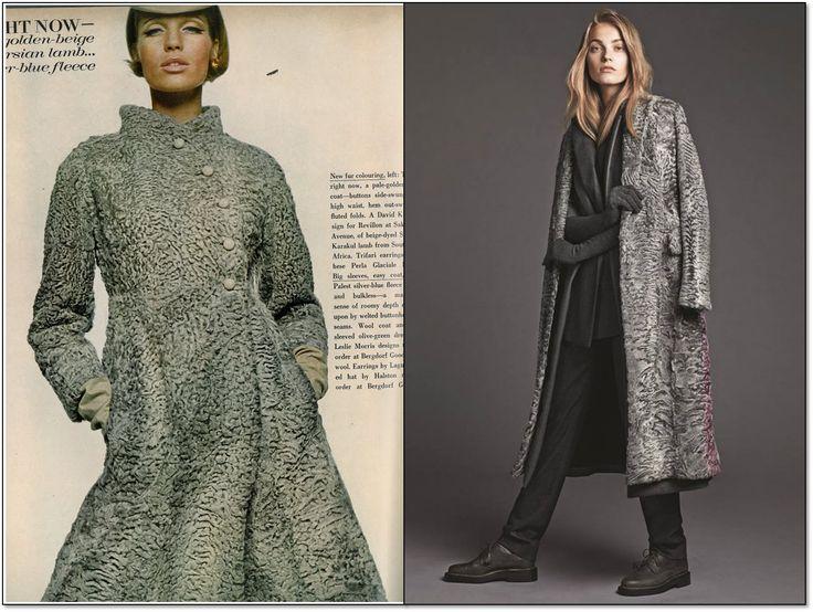 Слева: Vogue. Сентябрь 1966 г. Модель:  Верушка (Veruschka). Фотограф: Берт Штерн (Bert Stern). Справа: WSJ Magazine. Сентябрь 2014 г. Модель: Анна Ягодзинска (Anna Jagodzinska). Фотограф: Лахлан Бэйли (Lachlan Bailey). #fashion #fashioninspiration #style #60s #1960s #SperanzaFirsace