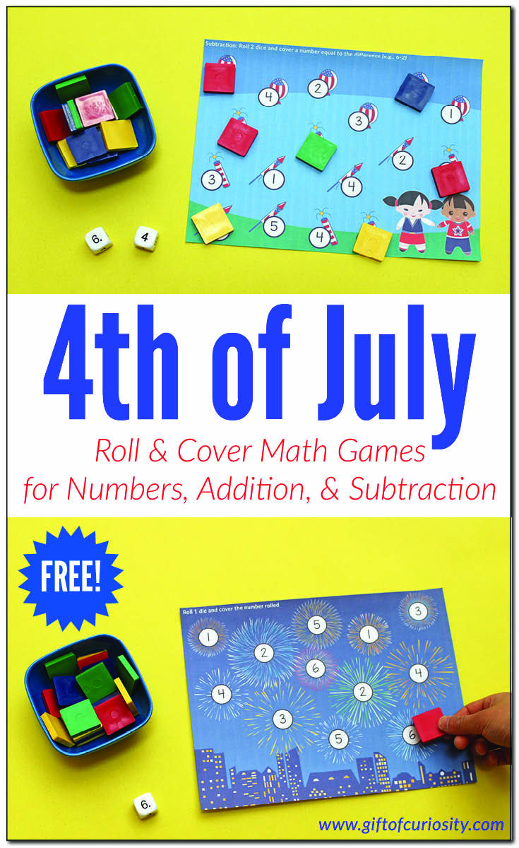 4th Of July Roll Cover Math Games Math Games 4th Of July Subtraction Practice [ 1200 x 735 Pixel ]