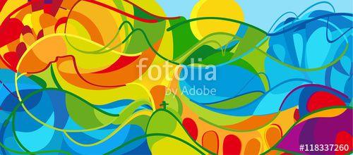 """Download the royalty-free photo """"OLYMPICS GAMES Rio 2016 BRAZIL SPORT Abstract…"""