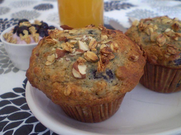 Muffin aux bleuets et granola