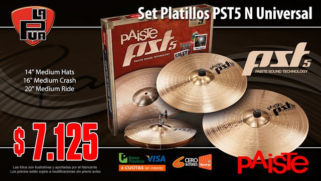 La Púa San Miguel: Set Platillos PAISTE PST5 N Universal Set