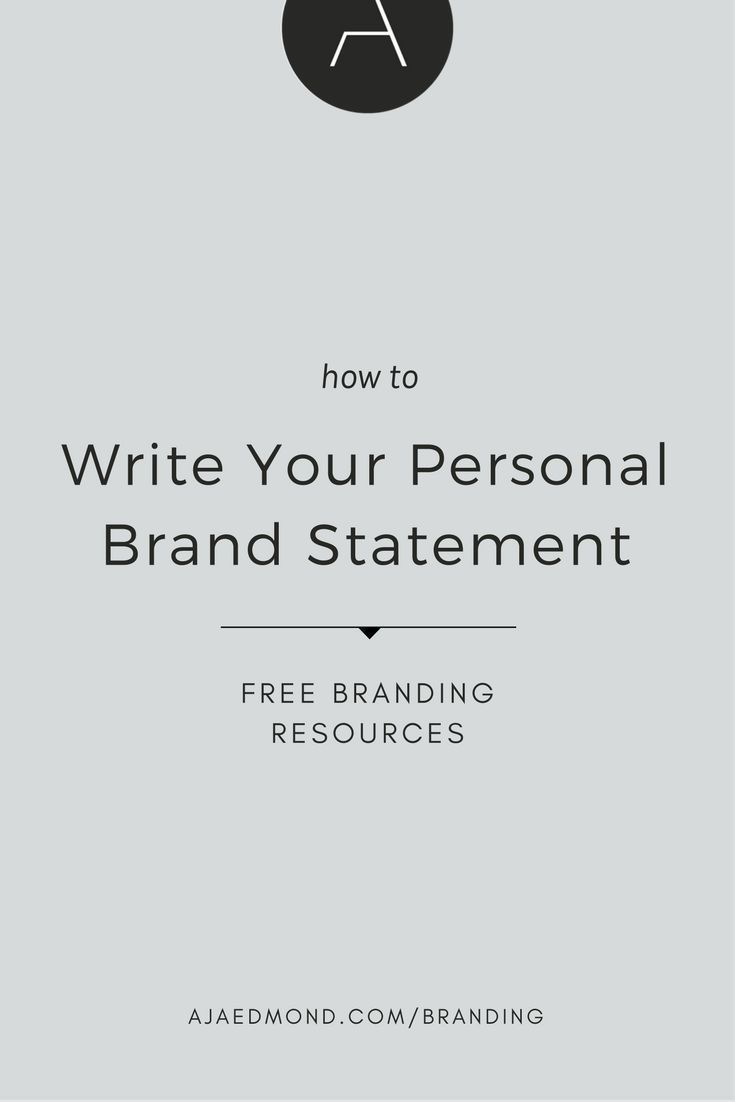 How To Write Your Personal Brand Statement With Free E Course And Resource Ajaedmond Com Branding Strategy Template