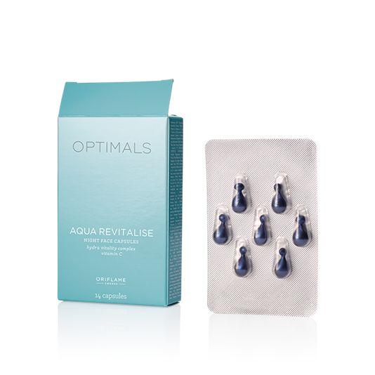 Optimals Aqua Revitalise -yöihonhoitokapselit