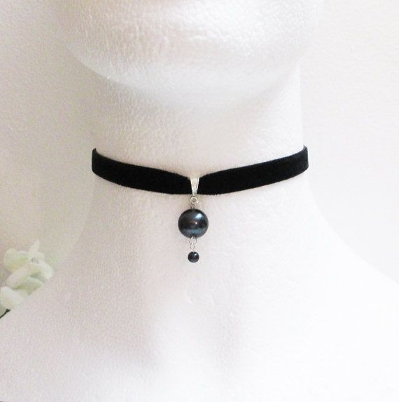 Choker, Pink Choker, Pearl Choker, Velvet Choker, Wedding Necklace, Bridesmaid Jewelry, Wedding Choker, Sexy Choker, Gothic Choker Gift idea on Etsy, $17.00
