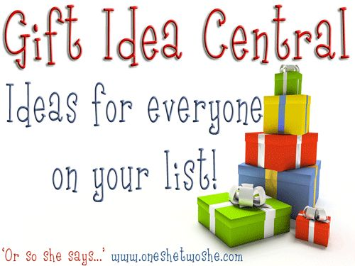 This has TONS of gift ideas for everyone on your list!  Great pin for Christmas or birthday gift ideas! www.oneshetwoshe.com