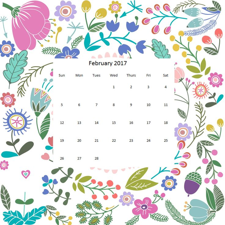 Image result for calendar feb 2017 starting with saturday