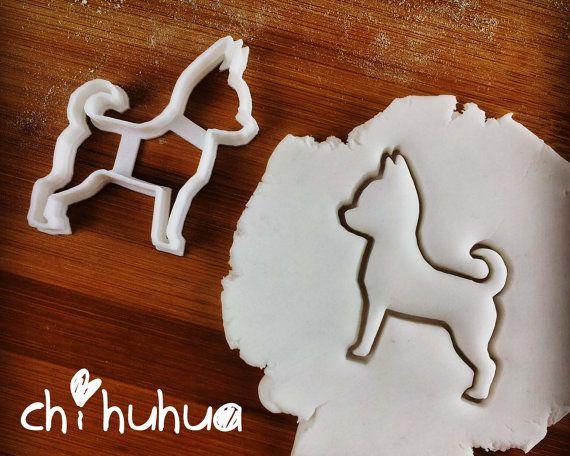 Dog cookie cutter   biscuit cutter   fondant cutter   clay cheese cutter - Chihuahua, Corgi, Dachshund, Greyhound one of a kind ooak