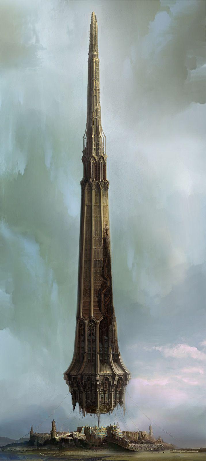 EIN- Tower 'Phlegyas', Choong Yeol Lee on ArtStation at https://www.artstation.com/artwork/LlBKv