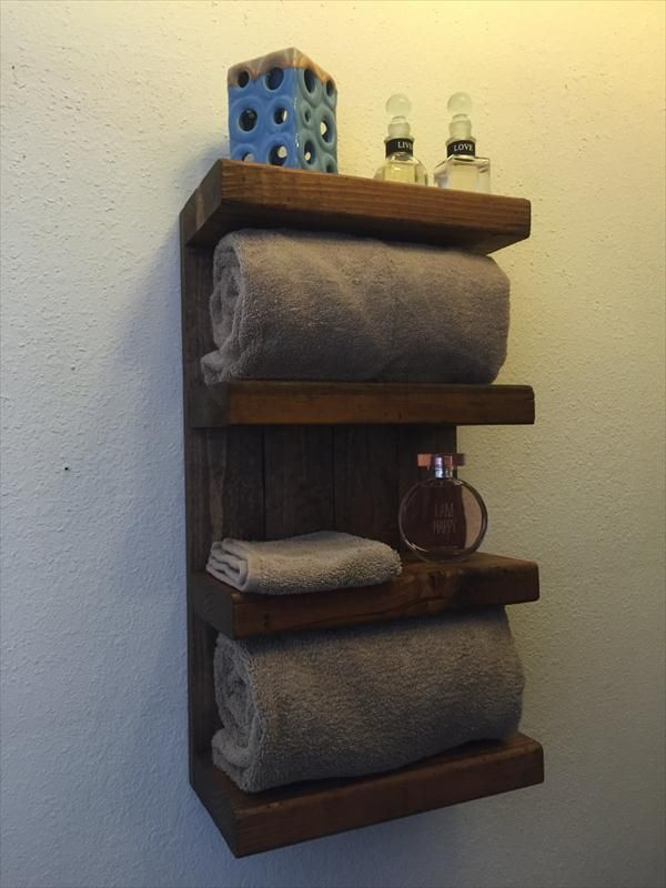 Superb 17 DIY Wooden Bathroom Shelves That You Can Make Just In One Day