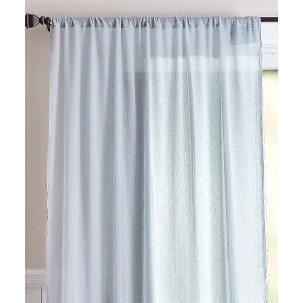 Karma Living Blue Hamptons Double Layer Curtain Panel ($20) liked ...