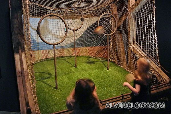 Quidditch hoops for kids to play with