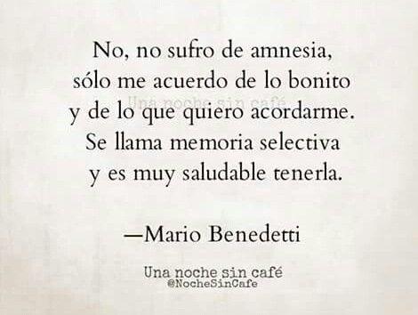 Mario Benedetti y la memoria selectiva