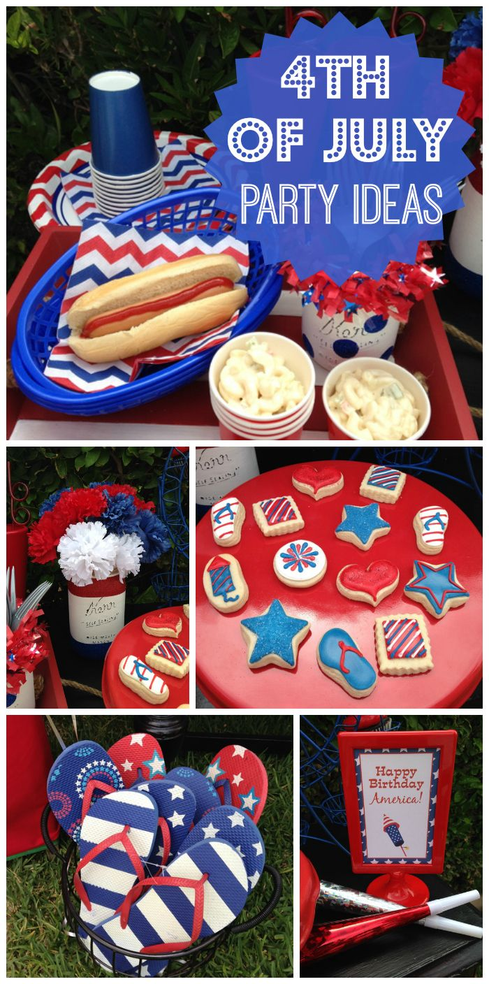 A little firecracker turns one at this 4th of July party, complete with a mini fireworks stand! See more party ideas at CatchMyParty.com!