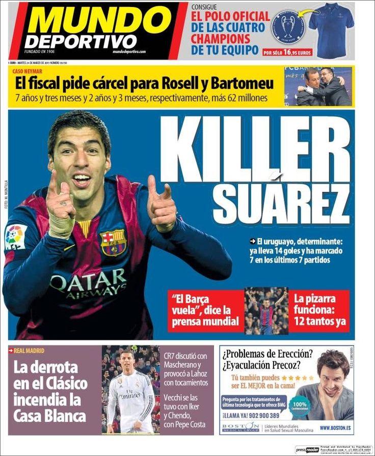 Portada Mundo Deportivo 24/03/2015
