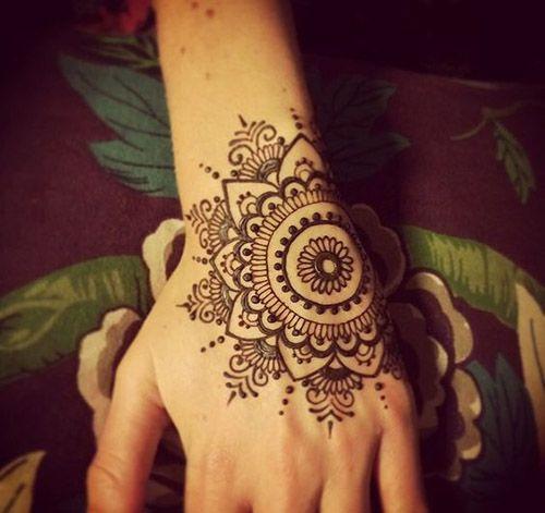 Mehndi Tattoo Easy : The best henna designs easy ideas on pinterest