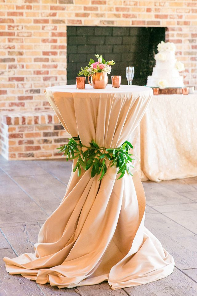 blush and champagne cocktail table