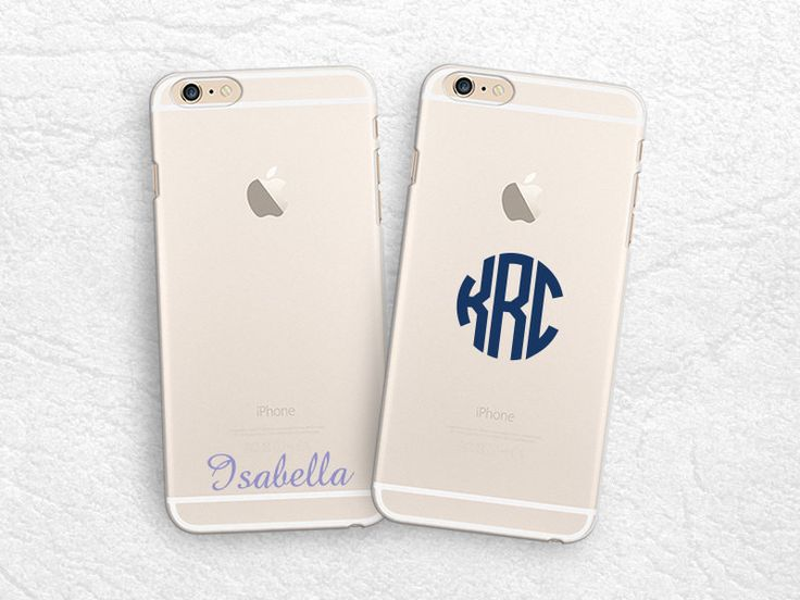 Personalized monogram name transparent phone case for iPhone 6, iPhone 5s, LG G3, Sony z3, HTC One m8, nexus 6 Monogrammed clear phone cover