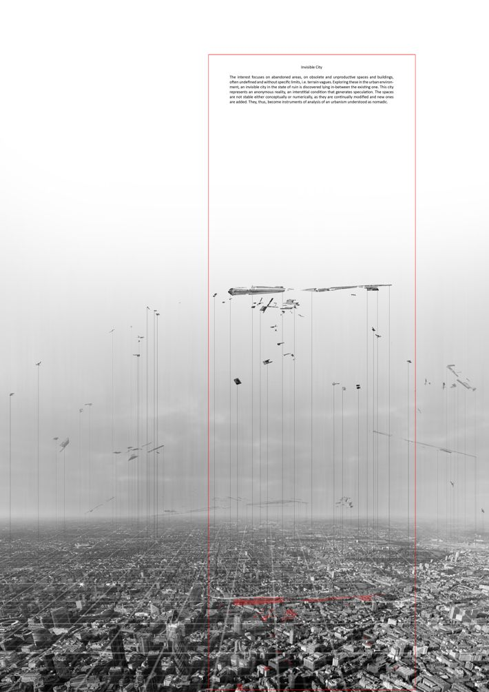 Building breakdown /// Invisible City by Vassia Chatzikonstantinou, via Behance