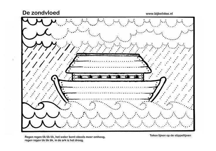 De ark van Noach - voorbereidend schrijven  www.bijbelidee.nl
