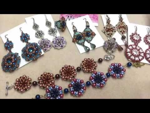 Materials: - 6mm rounds or pearls; - 6mm bugles; - 11/0 seed beads; - 15/0 seed…
