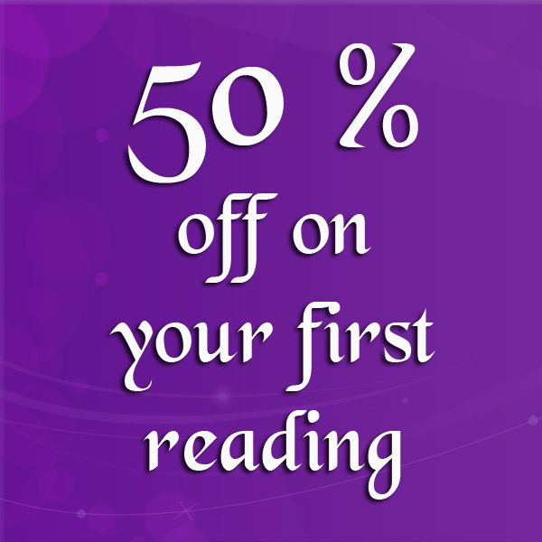Get 50 % off your first reading
