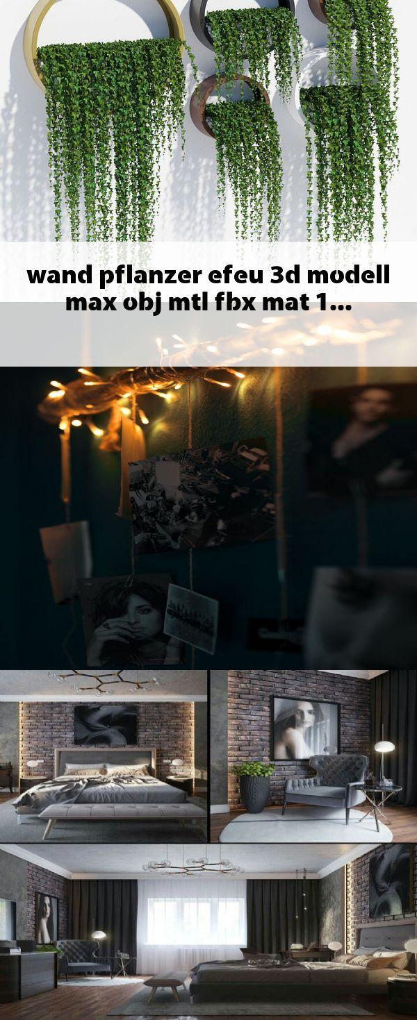 Wand Pflanzer Efeu 3d Modell Max Obj Mtl Fbx Mat 1 Decor Wands Mats
