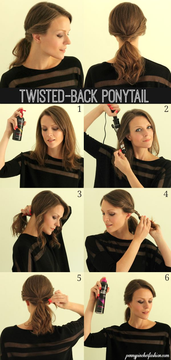 Twisted-Back Ponytail
