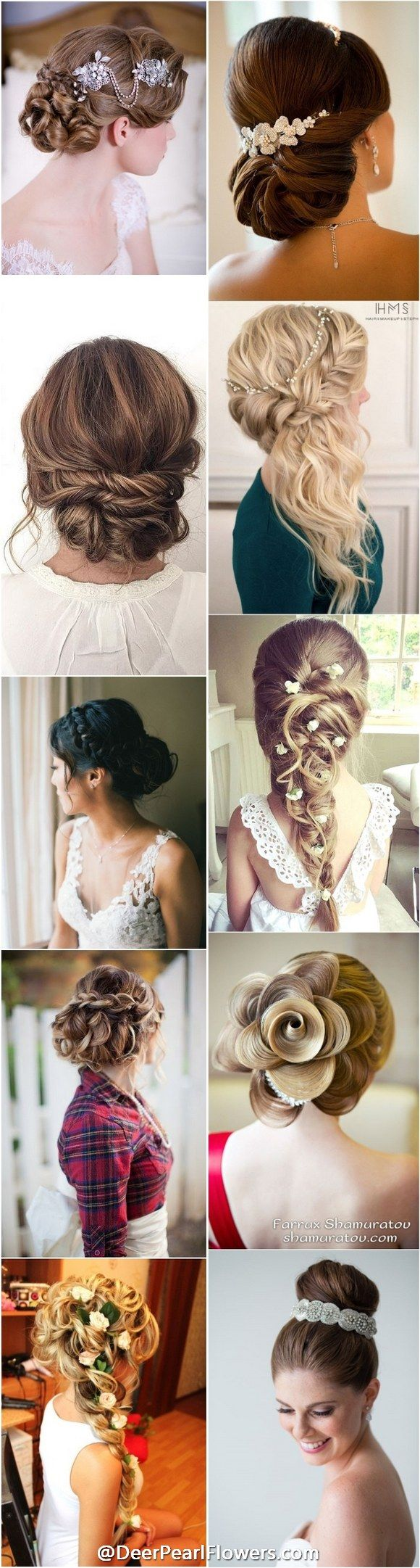 1000+ wedding hairstyles for long hair / http://www.deerpearlflowers.com/wedding-hairstyles/